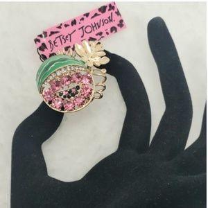NWT. Betsey Johnson Watermelon brooch
